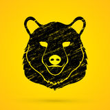 Graphique de tête de Big Bear Illustration Stock