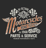 Graphique de T-shirt de moto de vintage Photo stock