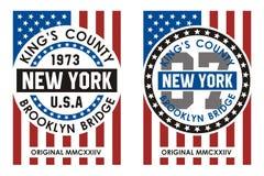 Graphique de T-shirt de New York Images libres de droits