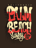 Graphique de T-shirt de Palm Beach Photos stock
