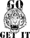 Graphique de T-shirt de Tiger Head Photos stock