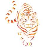Graphique de tigre Photographie stock libre de droits