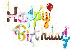 Graphique de titre de joyeux anniversaire Image stock