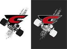 Graphique de vecteur avec des voitures de portable de sport Photographie stock libre de droits