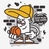 Graphique de vecteur orienté de conception d'impression de T-shirt de caractère d'Art Graffiti Aesthetic Cartoon Mascot de rue de illustration libre de droits