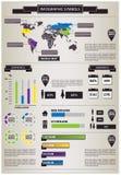 Graphique des informations détaillées Image libre de droits