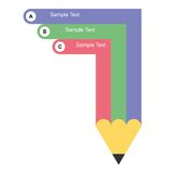 Graphique des informations sur la conception de crayon Photographie stock