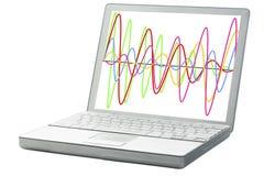 Graphique des signaux de vague image stock