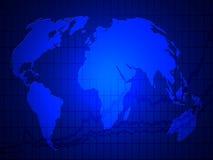 Graphique du monde vers le haut de fond Images stock