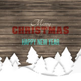 Graphique en bois de Noël d'hiver Images stock