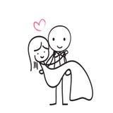 Amour de mariage Images libres de droits