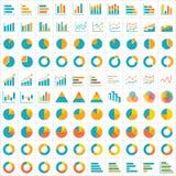 100 graphique et conception plate d'icône infographic de diagramme Image stock