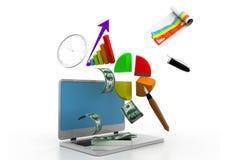 Graphique financier Image stock