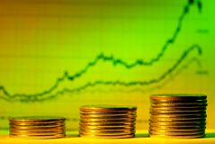 Graphique financier Photos libres de droits
