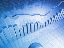Graphique financier avec des diagrammes à barres Image libre de droits