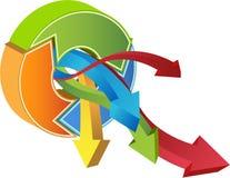 Graphique financier d'accroissement - 3D Photographie stock