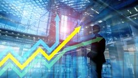 Graphique financier de flèches de croissance Investissement et concept marchand images libres de droits