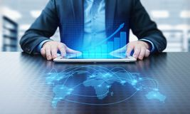 Graphique financier Diagramme de marché boursier Concept de technologie d'Internet d'affaires d'investissement de forex photos libres de droits