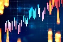 Graphique financier technique sur le fond d'abrégé sur technologie illustration de vecteur
