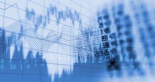 Graphique financier technique sur le fond d'abrégé sur technologie illustration stock
