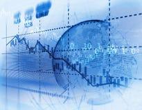 Graphique financier technique sur le fond d'abrégé sur technologie Photographie stock libre de droits
