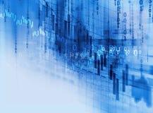 Graphique financier technique sur le fond d'abrégé sur technologie Photo libre de droits