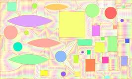 graphique, fond coloré lumineux, saturé, abstrait Illustration Stock