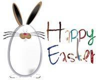 Graphique formé heureux de lapin d'oeuf de pâques Photo libre de droits