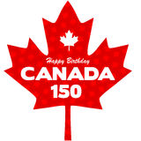 Graphique heureux de Canada de 150 anniversaires Photo libre de droits