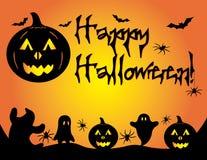 Graphique heureux de potiron de Halloween Photos stock