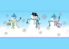 Graphique heureux du bonhomme de neige trois Photo stock