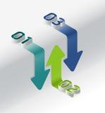 Graphique infographic moderne isométrique Images stock