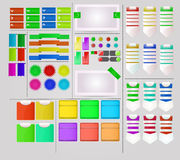 Design de l'interface intéressant d'utilisateur Images stock