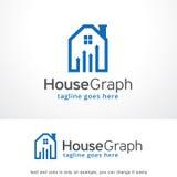 Graphique Logo Template Design Vector, emblème, concept de construction, symbole créatif, icône de Chambre Photo libre de droits