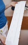 Graphique médical des contractions image stock