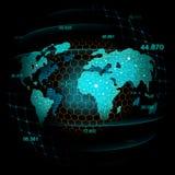 Graphique marchand de marché boursier ou de forex dans le concept futuriste illustration libre de droits