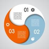 Graphique moderne d'infos de vecteur pour le projet d'affaires Photo stock