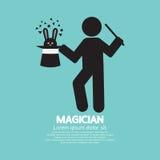 Graphique noir de symbole de magicien Images stock