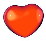 Graphique rendez d'un coeur rouge brillant d'amour Images libres de droits