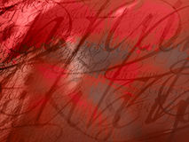 Graphique rouge - fond texturisé abstrait Photographie stock