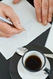 Graphique sur la serviette Photo libre de droits