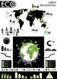Graphique vert d'infos Photographie stock libre de droits