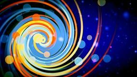 Graphiques abstraits de mouvement de Loopable avec la spirale colorée 4K banque de vidéos