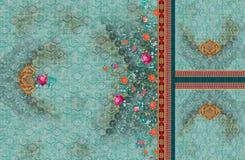 Graphiques color?s num?riques d'image de mod?le de couleur de kurti de fleur de Rose illustration libre de droits