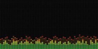 Graphiques d'égaliseur de musique Photos libres de droits