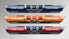 Graphiques d'émission de score du football illustration de vecteur