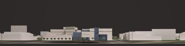 graphiques 3D du milieu urbain quart Images stock