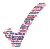 Graphiques d'information-texte d'élection et concept de disposition illustration de vecteur