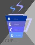 Graphiques d'infos de tasse Photos libres de droits