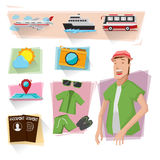 Graphiques d'infos de voyage Photographie stock libre de droits